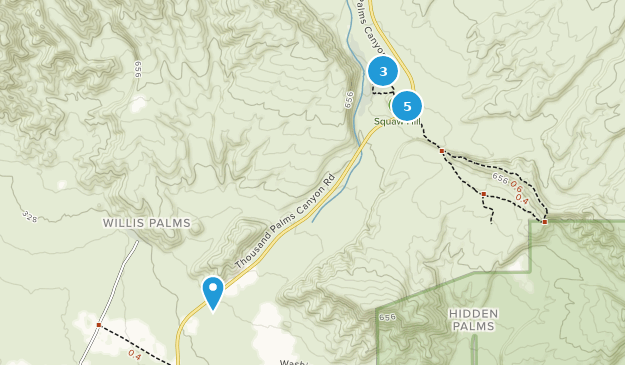 Coachella Valley Preserve Nature Trips Map