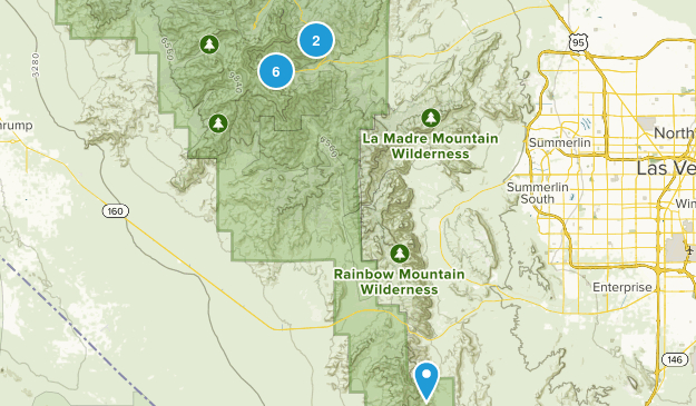Spring Mountains National Recreation Area Nature Trips Map