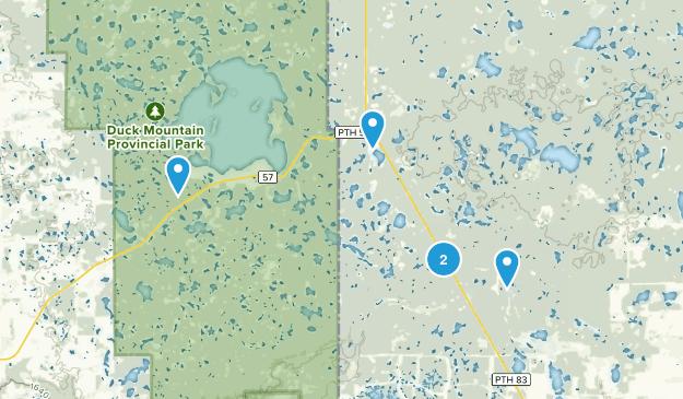 Duck Mountain Provincial Forest  Bird Watching Map