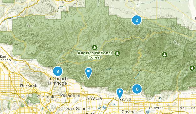 Monument national des montagnes de San Gabriel Hiking Map
