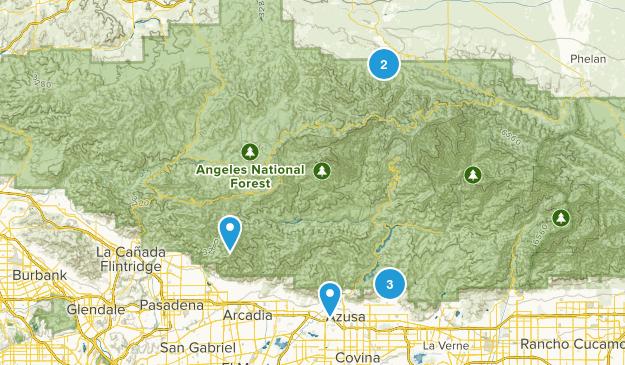 San Gabriel Mountains National Monument Nature Trips Map