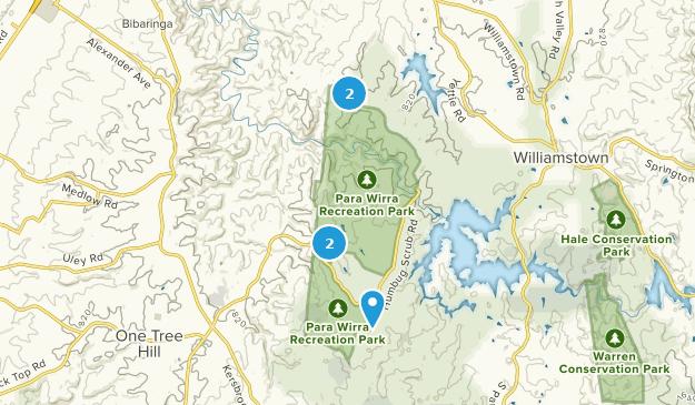 Para Wirra Recreation Park Hiking Map