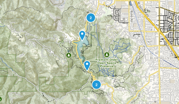 Stevens Creek County Park Hiking Map