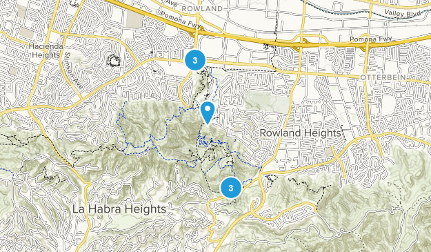 Peter F. Schabarum Regional Park Hiking Map