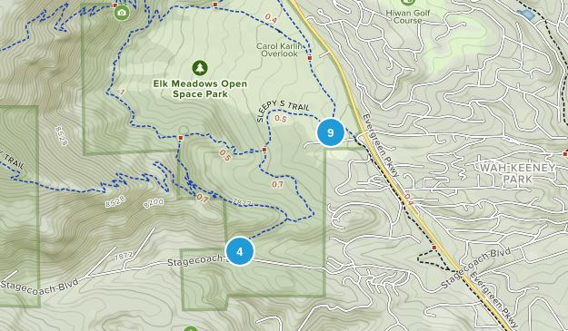 Elk Meadow Park Birding Map