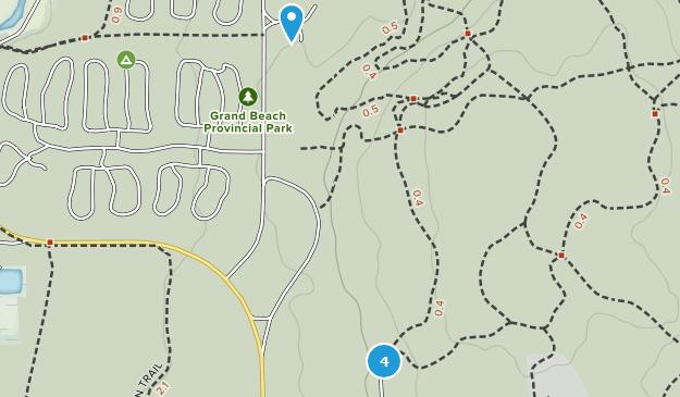 Parc provincial de Grand Beach Hiking Map