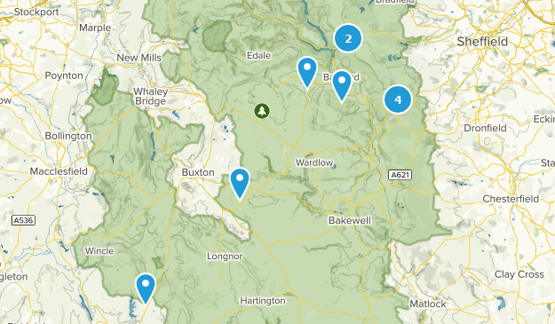 Peak District National Park Hiking Map