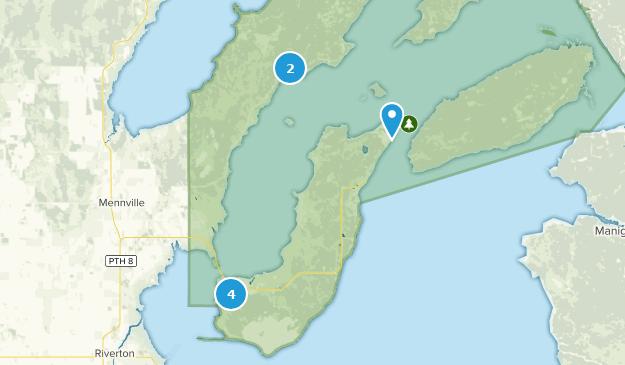 Parc provincial Hecla / Grindstone Hiking Map