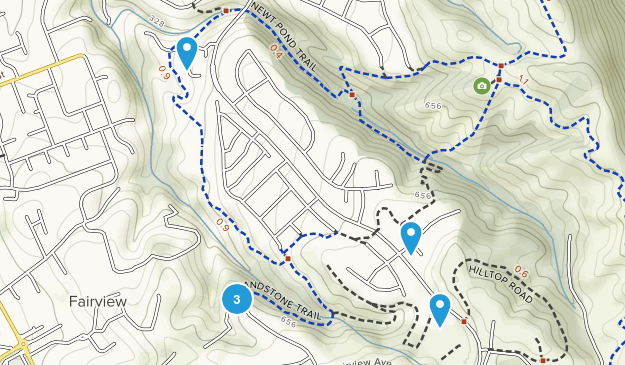 Open Space Cinq Canyons Hiking Map