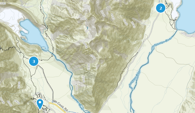 Aoraki/Mount Cook National Park Birding Map