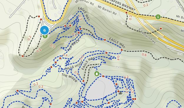 Eagle Mountain Bike Park Mountain Biking Map