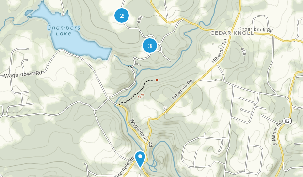 Hibernia County Park Hiking Map