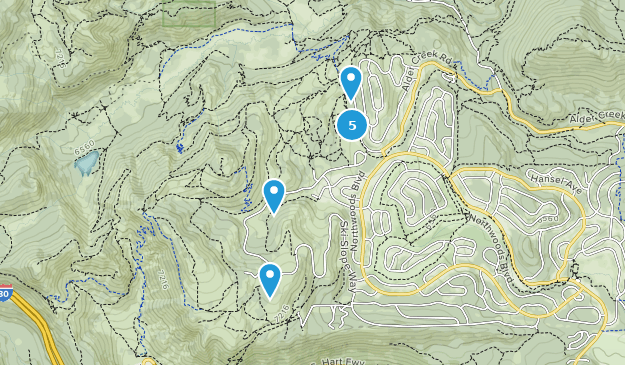 Tahoe Donner Trail System Hiking Map