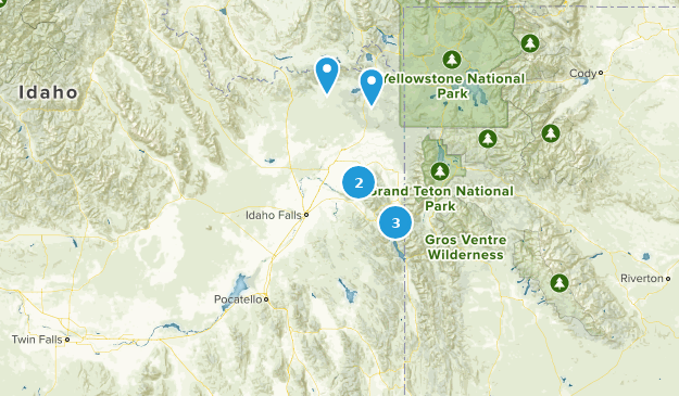 Caribou-Targhee National Forest Fishing Map