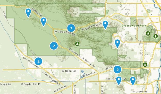 Tucson Mountain Park Mountain Biking Map