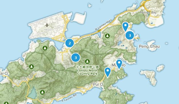 Lantau North County Park Bird Watching Map
