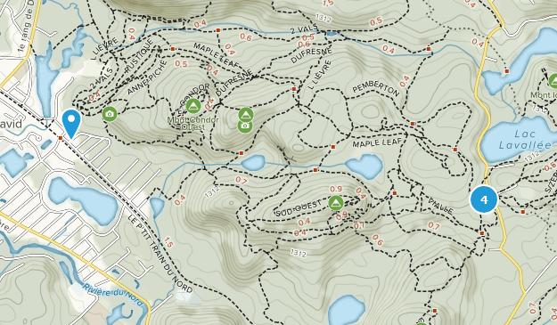 Parc régional Val-David-Val-Morin Cross Country Skiing Map