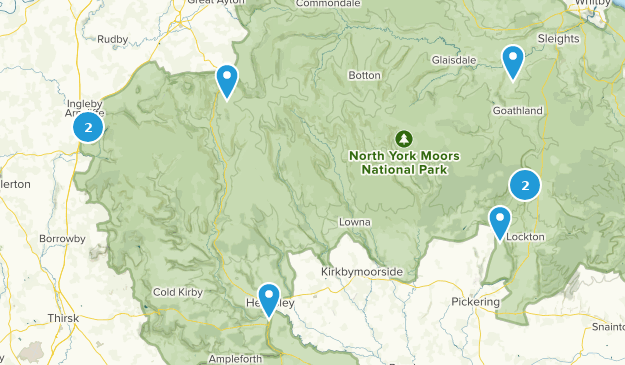 North York Moors National Park Hiking Map