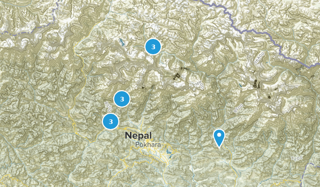 Annapurna Conservation Area Nature Trips Map
