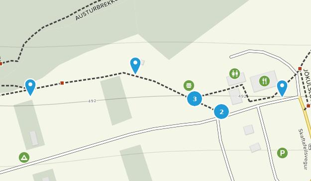 Skaftafell National Park Hiking Map
