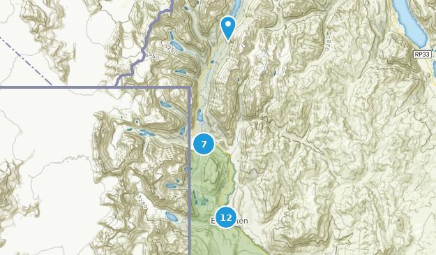 Lago del Desierto Provintial Reserve Hiking Map