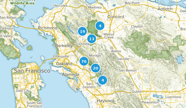 Map Of California East Bay.Best Hiking Trails In East Bay Municipal Utility District Lands