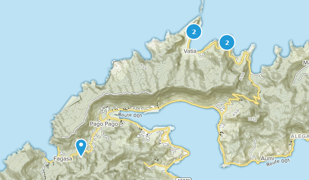 Pago Pago, Tutuila Bird Watching Map