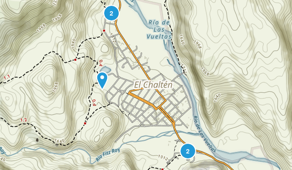 El Chaltén, Santa Cruz Hiking Map