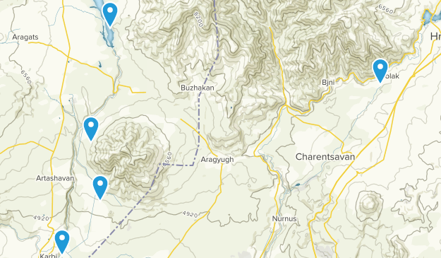 Ashtarak, Kotayk' Hiking Map