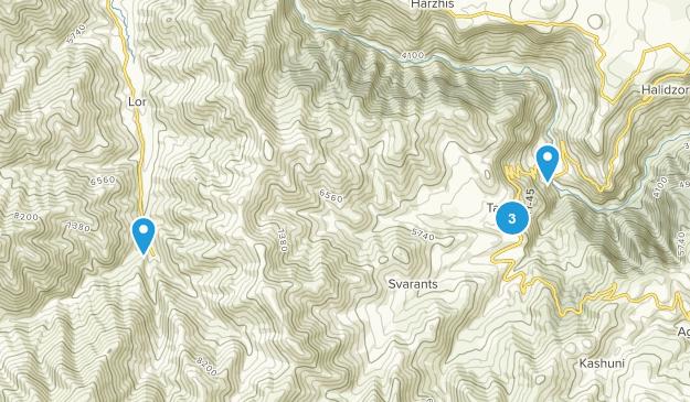 Tatev, Kotayk' Hiking Map