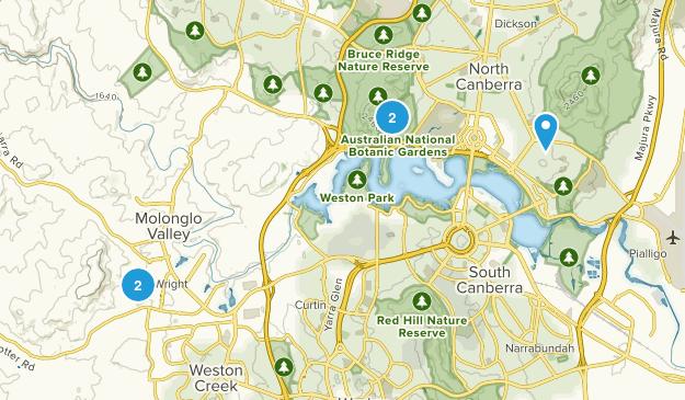 North Canberra, Australian Capital Territory Trail Running Map