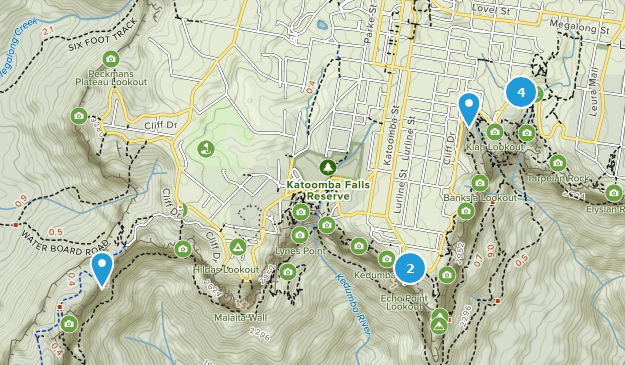 Blue Mountains, New South Wales Birding Map