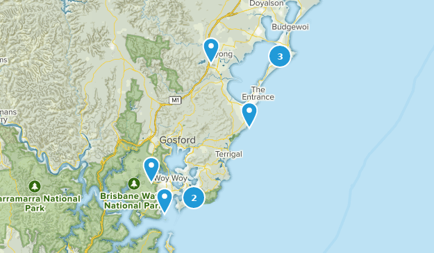 Central Coast Australia Map.Best Bird Watching Trails Near Central Coast New South Wales