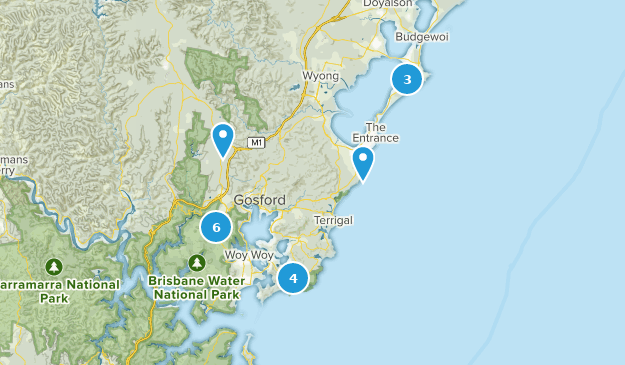 Central Coast, New South Wales Hiking Map