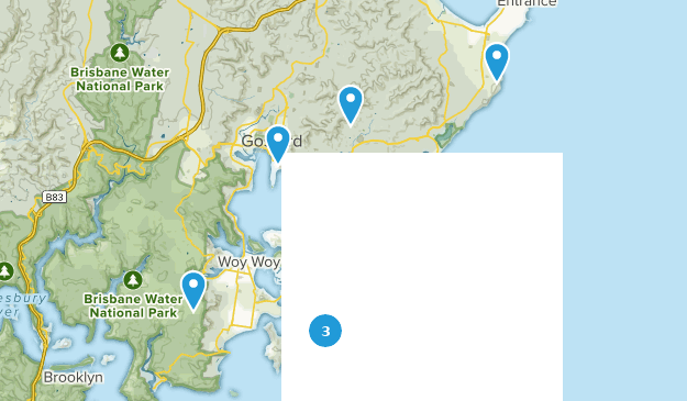 Central Coast Australia Map.Best Trail Running Trails Near Central Coast New South Wales