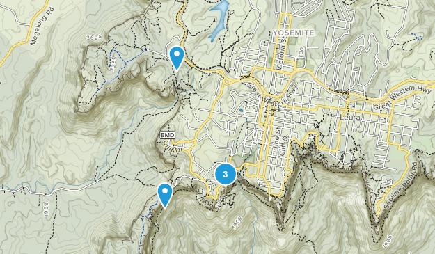 Katoomba, New South Wales Hiking Map
