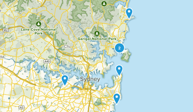 Sydney, New South Wales Beach Map