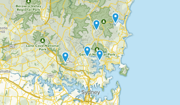 Sydney, New South Wales Forest Map