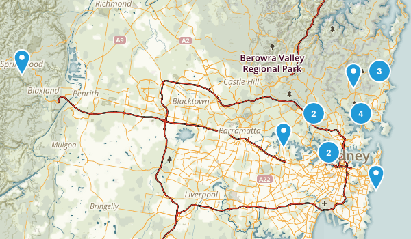 Sydney, New South Wales Hiking Map