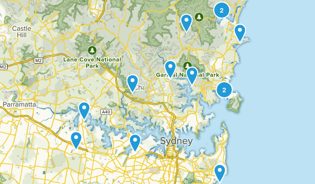 Sydney, New South Wales Trail Running Map