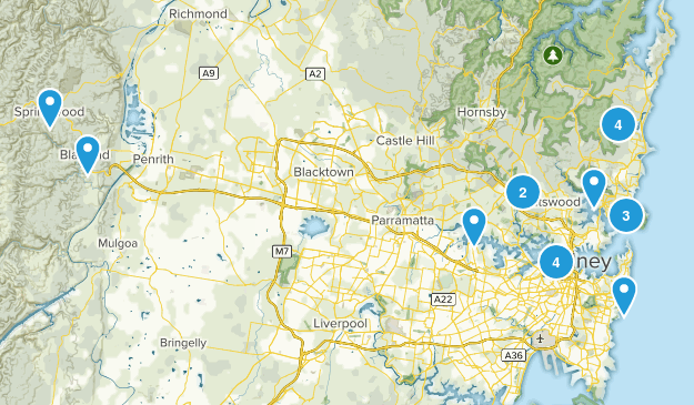 Sydney, New South Wales Walking Map