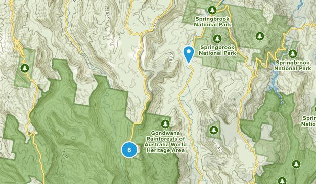 Beechmont, Queensland Hiking Map