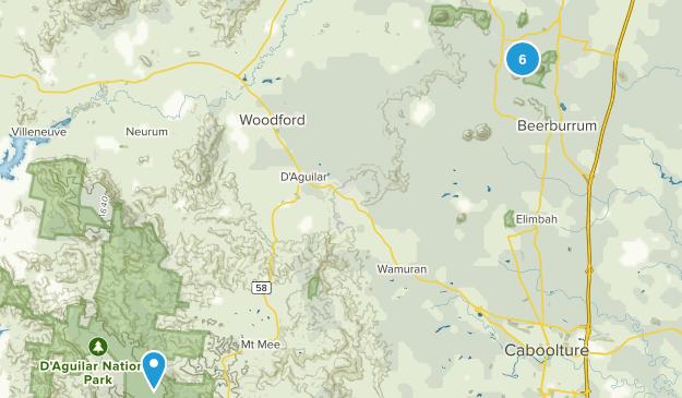 Beerburrum, Queensland Hiking Map