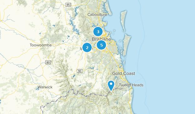 Brisbane, Queensland Hiking Map