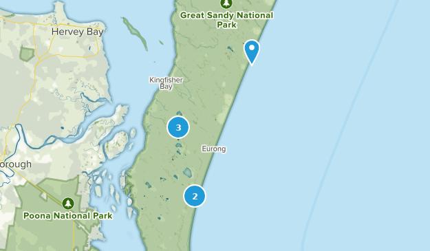Fraser Island, Queensland Camping Map