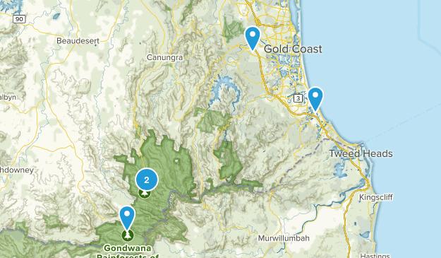 Gold Coast, Queensland Hiking Map