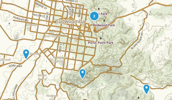 Toowoomba, Queensland Hiking Map