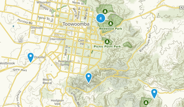 Toowoomba, Queensland Views Map