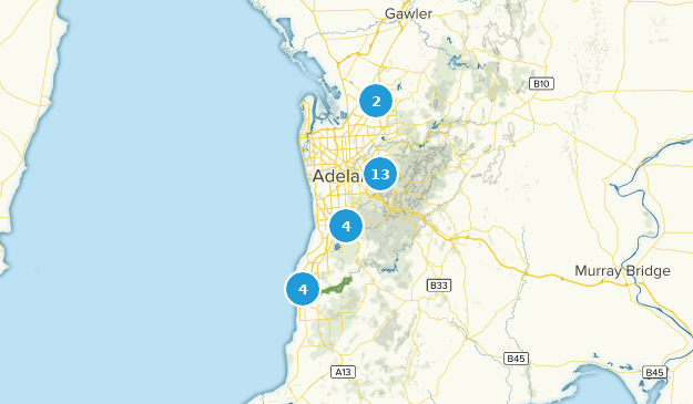 Adelaide, South Australia Bird Watching Map