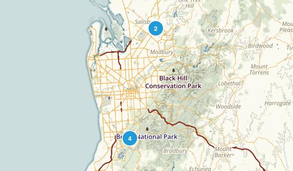Adelaide, South Australia Birding Map